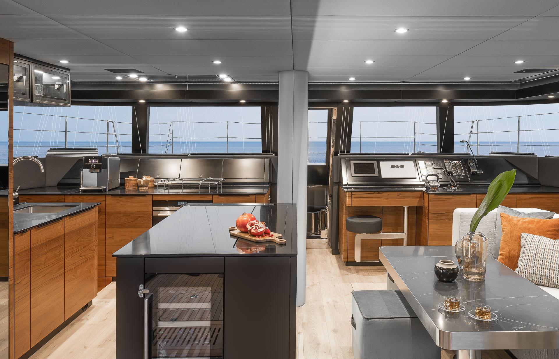 Luksusowy jacht - sesja zdjęciowa wnętrz